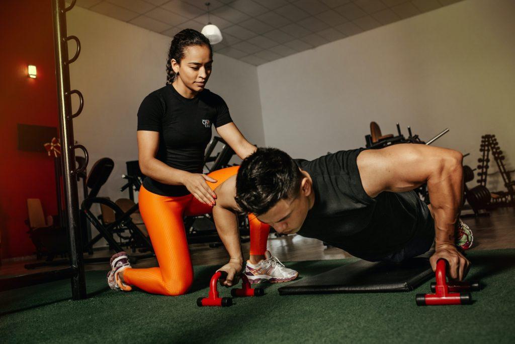 workout girl man